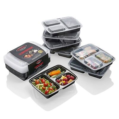 10 pack] Meal Prep Containers - The BEST Food Storage Solution - Stackable