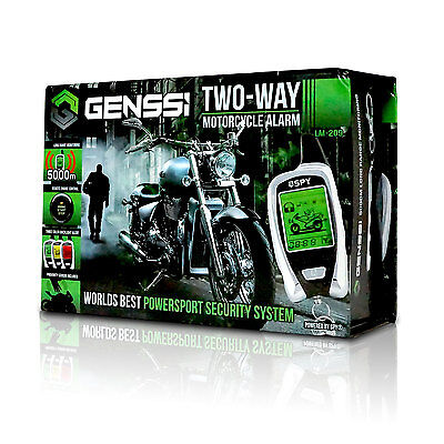 2-Way Motorcycle Alarm with Proximity Sensor Remote Start Super Long Monitoring