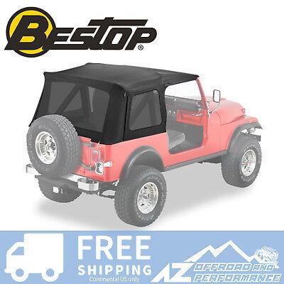 Bestop Supertop Replacement Skin 76-95 Jeep CJ7 / Wrangler Tinted Windows Black