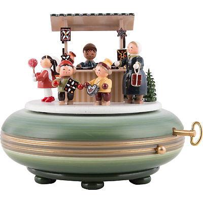 Große wunderschöne KWO Spieluhr Weihnachtsmarkt 28-tönigem Schweizer Spielwerk .