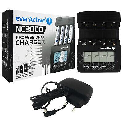 everActive NC3000 Professional Batería Cargador Pro LCD Inteligente NI-MH ni-Cd