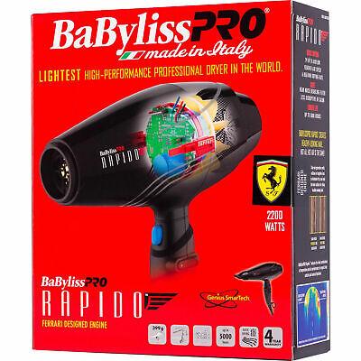 Бабилисс Про 2000В БФ7000 Рапидо Феррари Дизајнирани фен за косу - БАБФ7000