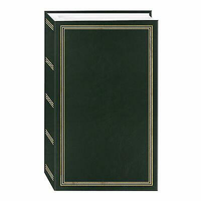 Photo Album 4x6 500 Photos Memory Scrapbook Family Wedding Baby Slip In Green ()