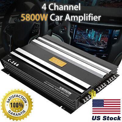 5800W Watt 4 Channel Car Truck Amplifier Stereo Audio Speaker Amp System Device