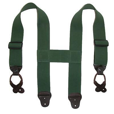 New CTM Men's Elastic 2 Inch Wide Button-End Wader Suspender