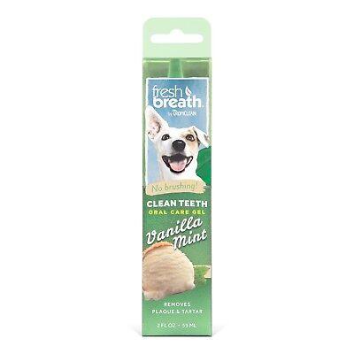 Clean Teeth Gel Fresh Breath No Brushing Removes Plaque Tartar Dogs 2 oz
