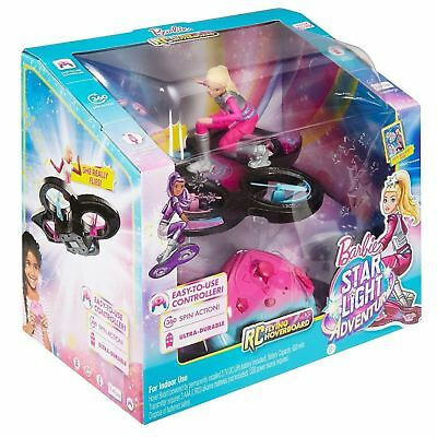 Barbie Star Light Adventure DLV45 Doll & Flying RC Remote Control Hoverboard