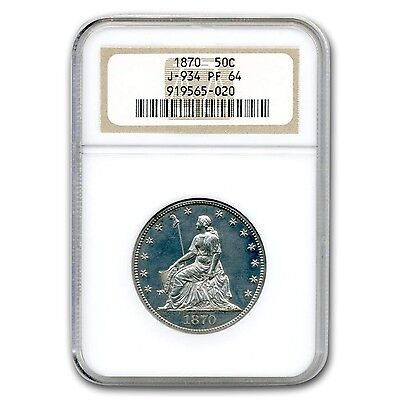 Click now to see the BUY IT NOW Price! 1870 LIBERTY SEATED HALF DOLLAR PATTERN PF 64 NGC JUDD 934   SKU 132311