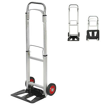 Vilobos 330lb Folding Hand Truck Dolly Portable Luggage Cart Warehouse Trolley