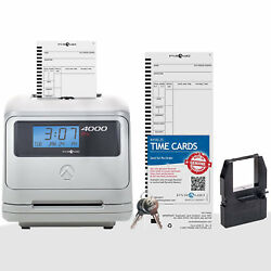 Time Clock Automatic Totaling Machine Pay Roll Card Employee Work Tracker Office