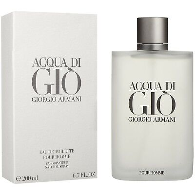 Acqua Di Gio by Giorgio Armani 6.7 / 6.8 oz EDT Cologne for Men Mew In Box