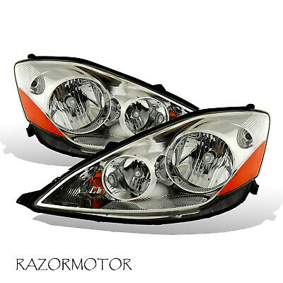 2006-2010 Replacement Headlight Lamp Pair For Toyota Sienna W/ Bulb + Socket