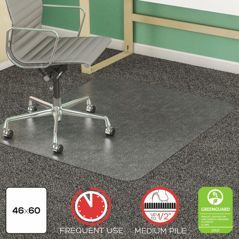 Deflecto SuperMat Frequent Use Chair Mat Medium Pile Carpet Beveled 46 x 60