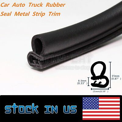 36ft Rubber Seal Metal Truck Van Car Accessories Door Window Edge Strip Trim