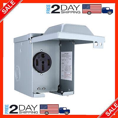 50-amp Generator Power Inlet Box Receptacles 120250 Volts Outdoor Weatherproof