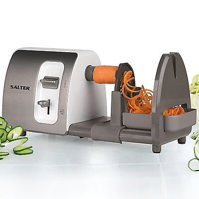 Salter EK2299TES 3 In 1 Side Loading Electric Fruit & Vegetable Spiralizer 15W