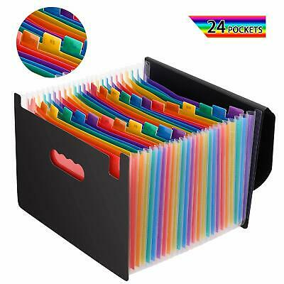 Magicfly 24 Pocket Accordion File Organizer Expandable File Folder With Lid Us