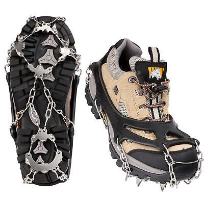 MoKo 19 Spikes Ice Crampon Outdoor Footwear Traction Cleats Safe Mount Snow Grip