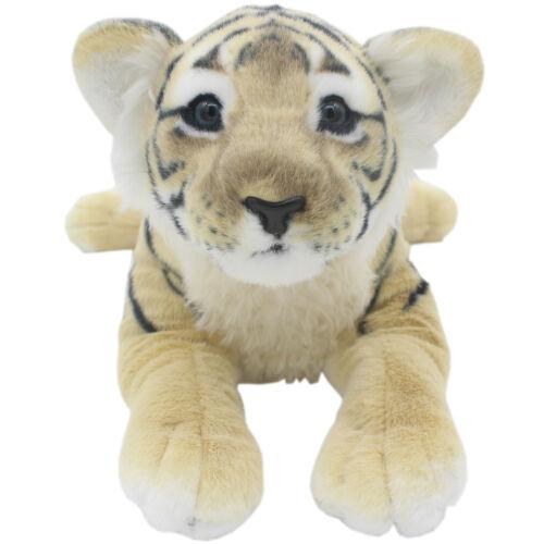 TAGLN Lifelike Stuffed Animals Toys Brown Tiger Plush Pillows for Kids 16 Inch
