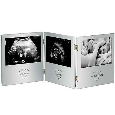 Triple Sonogram Frame Keepsake Ultrasound Picture Pregnancy Scan Images & Photos