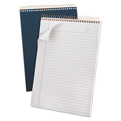 Ampad Gold Fibre Wirebound Writing Pad Wcover 8 12 X 11 34 White Navy Cover