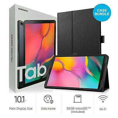 Samsung Galaxy Tab A SM-T510 10.1-Inch 32GB Tablet + Case & SD Card (Black) NEW