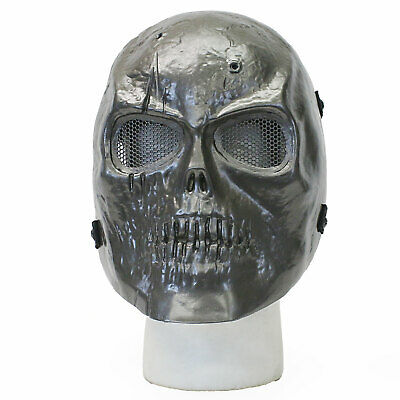 BBTac Airsoft Face Mask Cacique Skull Ghost Recon Silver Halloween - Ghost Recon Halloween Costume