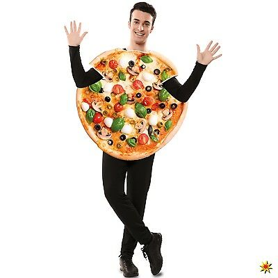 Kostüm Pizza Funghi Gr. M/L unisex Italien Pizza Lebensmittel Fasching Karneval