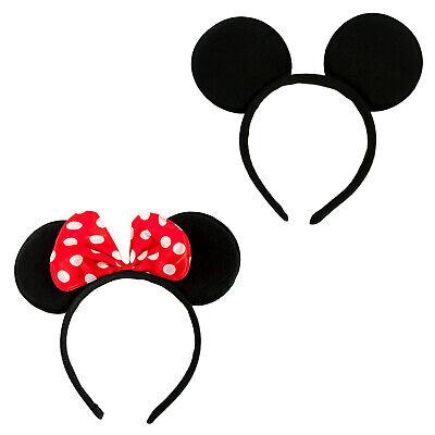 2x Haarreifen mit Maus Ohren Mouse Haarreif Fasching Karneval Kostüm Motto (Maus Ohren Kostüme)
