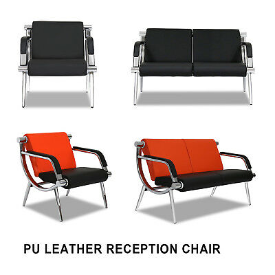 Waiting Room Chair Reception Pu Leather Office Airport Bank Bench 4 Styles