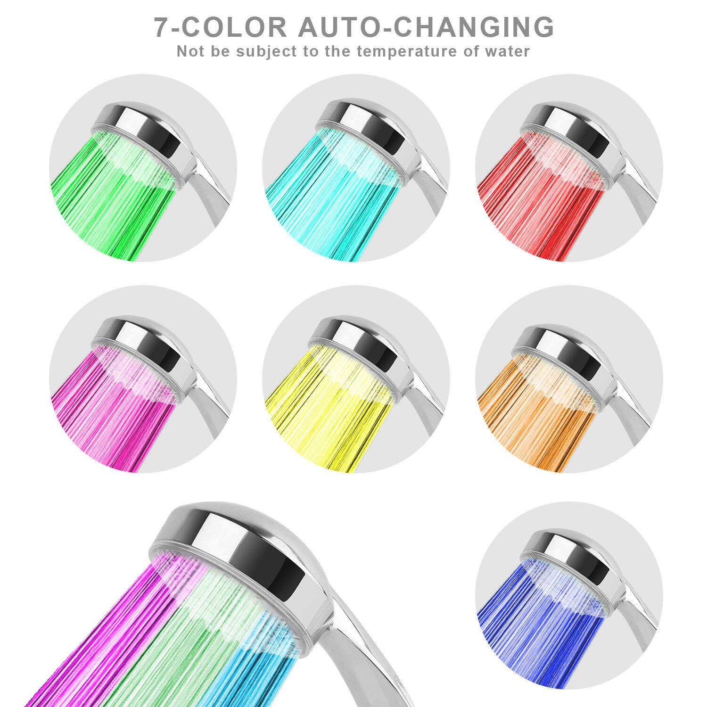 LED 7-Color Changing Bathroom Showerhead