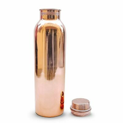 Pure Copper Water Bottle Flask 1L Thermos Drink Container Healthy Ayurved Yoga 1