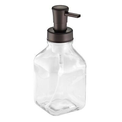 InterDesign Cora Glass Foaming Soap Dispenser Pump for Kitch