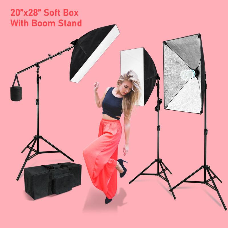 Photography Lighting Softbox Stand Photo Equipment Light Kit for Photo Studio