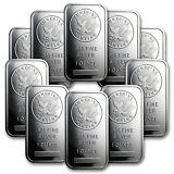 1 oz Sunshine Silver Bars - Lot of 10 - SKU #81530