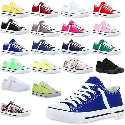 Freizeit Damen Herren Sneakers Low Viele Canvas Schuhe 811074 Top