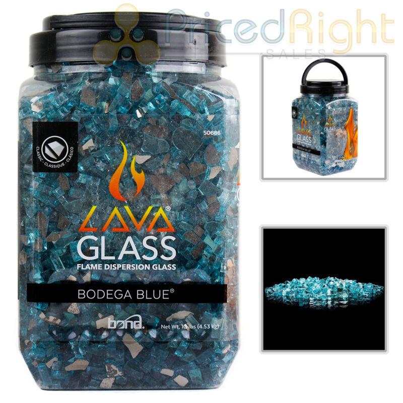 Gas Fireplace Bodega Blue Classic LavaGlass Firepit Dispersion Glass 10 lbs