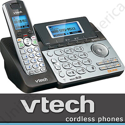 Cordless Phone Answering Machine DECT 6.0 VTech DS6151 Speakerphone 2 Lines Gift