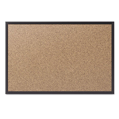 Quartet Classic Series Cork Bulletin Board 72x48 Black Aluminum Frame 2307b