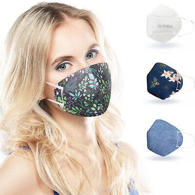 ALB Stoffe® CoverMe - 3 Cover HeiQ-Viroblock +1er Pack, MIX 2, Nasen-Mund-Masken
