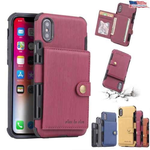 For iPhone 12 11 Pro XS MAX XR X 7 8 Plus Wallet Leather Cas
