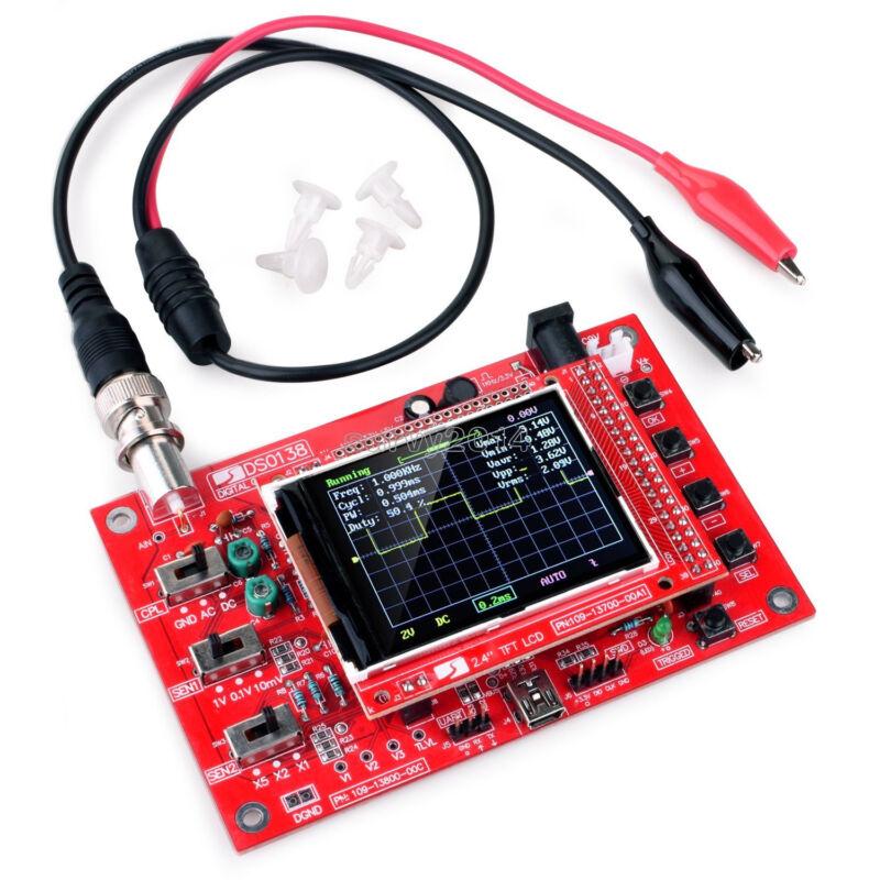 "Fully Welded Assembled DSO138 2.4"" TFT Digital Oscilloscope (1Msps) + Probe B1"