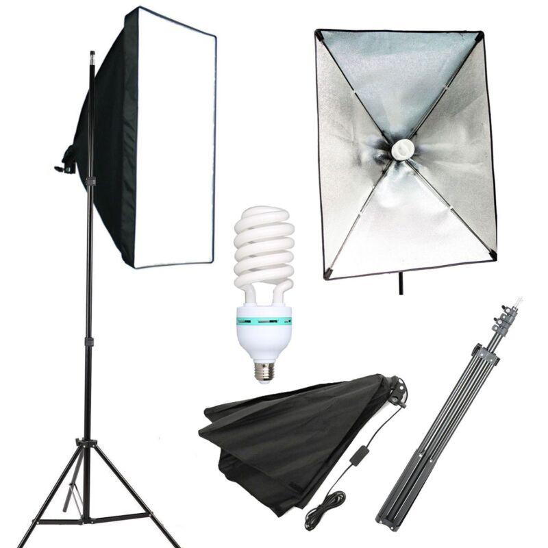 Photography Lighting Softbox Stand Photo Equipment Soft Box Studio Light Kit
