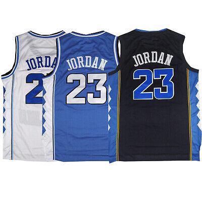 Throwback Michael Jordan #23 UNC Basketball Jersey Sports Top S M L XL XXL XXXL