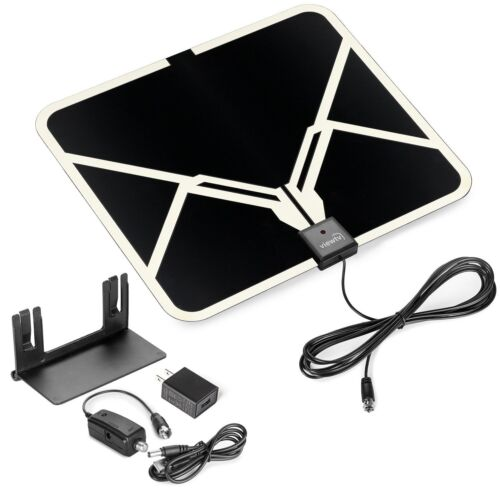 Viewtv Flat Hd Digital Indoor Amplified Tv Antenna With A...