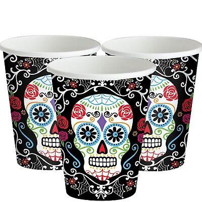 Día de los Muertos Mexicano Halloween Calavera Fiesta Celebración Vajilla Tazas