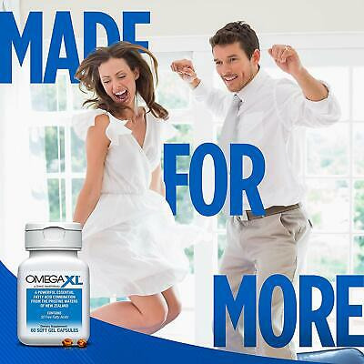 Omega XL 60ct by Great HealthWorks: Small, Potent, Joint Pain Relief - Omega-3 8