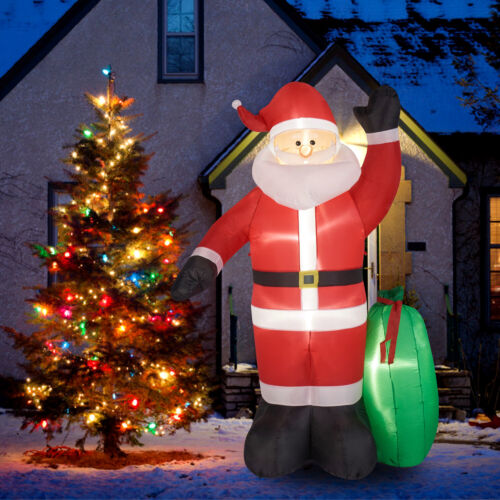 8Ft Christmas Inflatable Santa Claus w/ Gifts Blow Up Yard Decoration Outdoor
