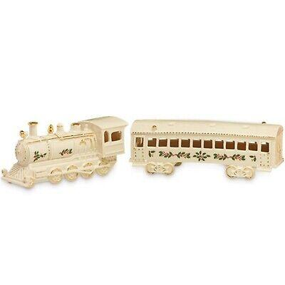 Lenox Holiday Christmas Village Train and Passenger Car
