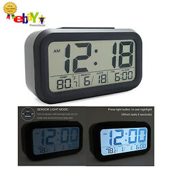 JCC Smart Light Automatic Digital Alarm Clock, Time, Date, Temperature, Snooze